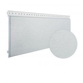 Bardage PVC cellulaire Multipaneel finition bois 250 x 18 mm Blanc 2.4 ml