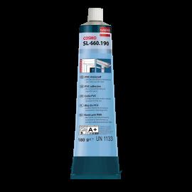 Colle translucide pour le collage de pièces en PVC rigide blanc 200 ml