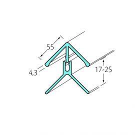 Profil d'angle int/ext 2 parties Bardexel® Lisse Crème
