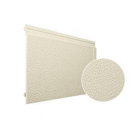 Bardage PVC cellulaire Multipaneel finition enduit 250 x 18 mm Ivoire clair 2.4 ml