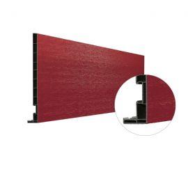 Planche de rive Vinyplus DRP finition bois 295 x 16 mm Rouge 3011 - 2 x 6 ml