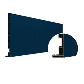Planche de rive Vinyplus DRP finition bois 295 x 16 mm Bleu acier 5011 - 2 x 6 ml