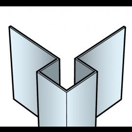 Profil coin extérieur Cedral Click en Aluminium Bleu océan