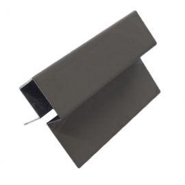 Profil d'angle ext en Alu Laqué Noir expresso
