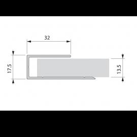Profil de départ et fin alu plaxé Alux anthracite