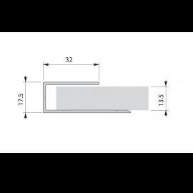 Profil de départ et fin alu plaxé Alux DB703