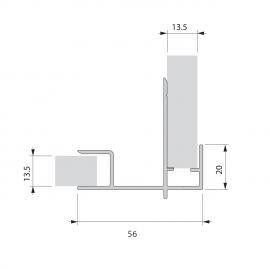 Profilé final en alu prépercé finition fenêtre plaxé Alux DB703