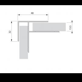 Cornière de finition int/ext plaxé Alux Anthracite