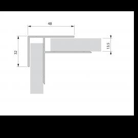 Cornière de finition int/ext plaxé Alux DB703