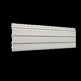 Bardage PVC cellulaire Élégance à claire voie 250 x 22.5 mm Crème