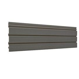 Bardage PVC cellulaire Élégance à claire voie 250 x 22.5 mm Gris quartz