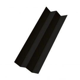 Profil d'angle int en Alu Laqué Noir minuit