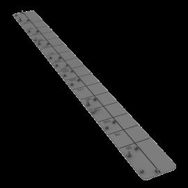 Embout de tablette universel Stone 450 mm - 1 colis = 20 pièces