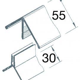 Angle sortant en 2 parties Acier corten pour Vinyplus Shadow