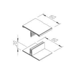 Jonction H en 2 parties Béton lissé pour Vinyplus Shadow