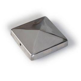 Accessoire Finition pour poteau en Inox 9 x 9 cm modèle Piramide