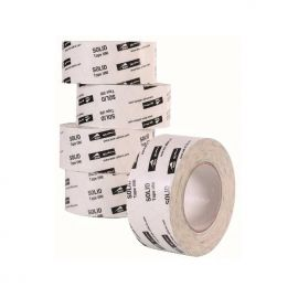 Adhésif souple et étirable simple face blanc 100 mm (ruban d'étanchéité)