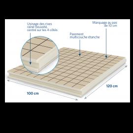 Panneau isolant pour sols et planchers 1200 x 1000 x 101