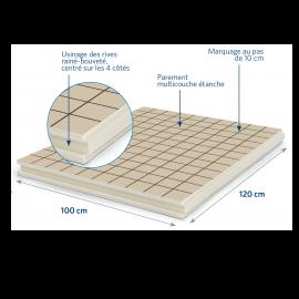 Panneau isolant pour sols et planchers 1200 x 1000 x 20