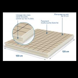 Panneau isolant pour sols et planchers 1200 x 1000 x 30