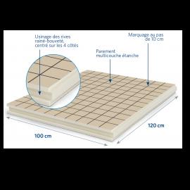 Panneau isolant pour sols et planchers 1200 x 1000 x 48