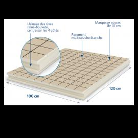 Panneau isolant pour sols et planchers 1200 x 1000 x 52