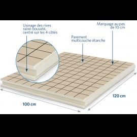 Panneau isolant pour sols et planchers 1200 x 1000 x 57