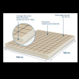 Panneau isolant pour sols et planchers 1200 x 1000 x 69