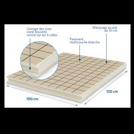 Panneau isolant pour sols et planchers 1200 x 1000 x 80