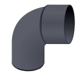 Coude PVC 87.30° diam. 80 mm Ardoise