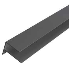Profil de finition en F 65 x 80 mm Ardoise RAL 7043