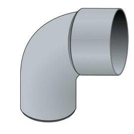 Coude PVC 87.30° diam. 80 mm Zinc