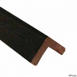 Cornière d'angle 45 x 45 mm Essentiel Épicéa Charbon