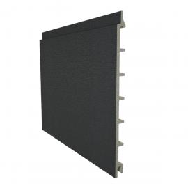 Bardage PVC cellulaire lisse à jonction invisible 200 x 13.5 mm chêne gris