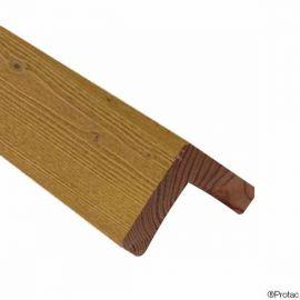 Cornière d'angle 45 x 45 mm Essentiel Épicéa Honey
