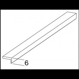 Profil de finition haute en L 9 x 6 x 1.9 mm Silver