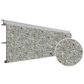 Bardage PVC Cellulaire Vinytherm® sans chanfrein Aspect Crépi Gotland - 6 x 6 ml