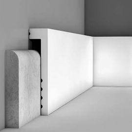 Surplinthe COVER prépeint blanc 2000 x 100 x 20 mm