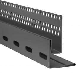 Profil de linteau et départ en pose verticale Hardieplank VL Noir minuit