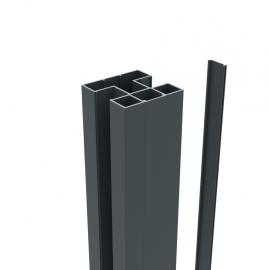 Profil de finition alu 4 x 24 x 1840 mm