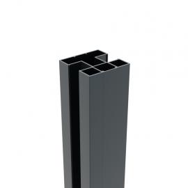 Poteau en alu à sceller dans du béton 75 x 75 x 2340 mm