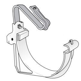 Crochet de Bandeau avec Étrier pour Gouttière Demi-ronde 25 Blanc