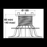 Visuel Plot Essentiel H80/140 mm Réglable pour Dalle