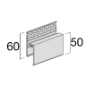 Visuel Profil de Ventilation Haute 2 parties Kerrafront® Caramel