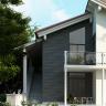 Visuel Bardage PVC Cellulaire Kerrafront® FS201 Wood design Connex Graphite 2.95 ml