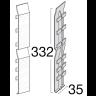 Visuel Éclisse FS202 332 x 35 mm Beige