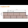 Visuel Bardage PVC Vinystone® 400 Aspect Pierre Gotland - 6 x 1.20 ml