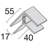 Visuel Profil d'angle Kerrafront® Chêne doré