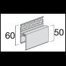 Visuel Profil de Ventilation Haute 2 parties Kerrafront® Blanc