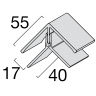 Visuel Profil d'angle Kerrafront® Gris perle